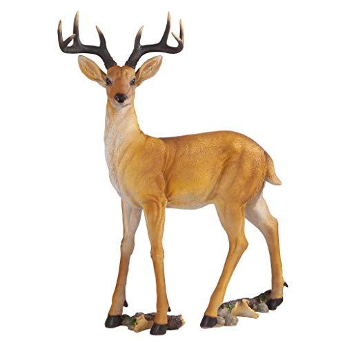 Design Toscano LY88195 Buck Deer Garden Statue Decoy, 37 Inch Full Color