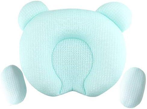 WXWIN Almohada para Bebé Suave Cabeza Infantil Ortopédica Conformación Almohada Memoria Espuma Dormir Cojín para Prevenir La Plagiocefalia Síndrome De Cabeza Plana