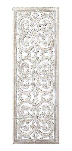 Fetco Jevan Whitewash Medallion Panel, White