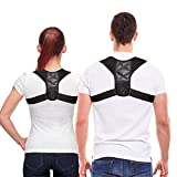 Mespirit Posture Corrector for Men and Women-2019 Newest Upgrade USA Designed Upper Back Brace for Clavicle Support and Providing Pain Relief from Neck, Back & Shoulder