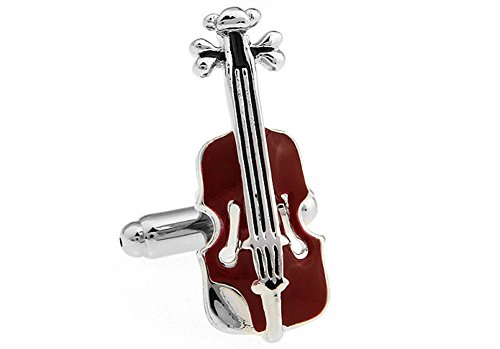inks Music Collection Chocolate Brown Viola Violin Musical Instrument Cuff Links (Clark Viola)
