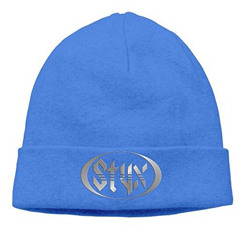 Equinox Mens Watch - Styx Rock Band Logo Equinox Cornerstone Cap Toboggan Beanie Hat Watch Cap
