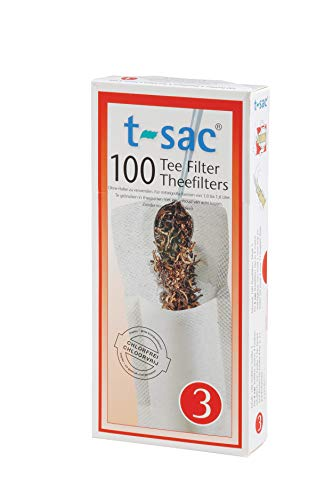 (T-Sac Tea Filter Bags, Disposable Tea Infuser, Number 3-Size, 3 to 8-Cup Capacity, Set of 100 )
