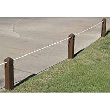"""Empire Top Rope Stakes Finish: White, Height: 18"""", Style: Hole"""