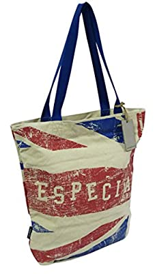 Especial Vintage Print Heavy Duty Reusable Cotton Shopping Tote Bags (4 Pack)