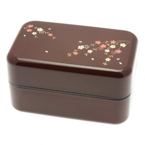 Kotobuki 2-Tier Sakura Petals Bento Box, Rosewood by Kotobuki
