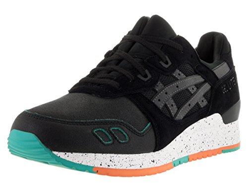 ASICS Herren GEL-Lyte III Retro Sneaker Schwarz / Schwarz Crackled Suede / Nubuk