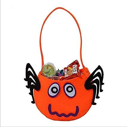 Accesorios para Halloween Bolso de calabaza de mano de los ni?os Regalos no tejidos