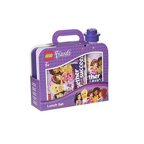 - LEGO Friends Lunch Set, Lunchset, Drinking Bottle, Lunchbox, Purple, RC40591732