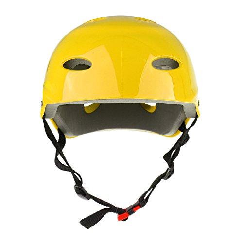 MagiDeal Casco de Deportes Unisexo para Adultos Correa Ajustable para Hockey Sobre Nieve Ligero - Amarillo, M