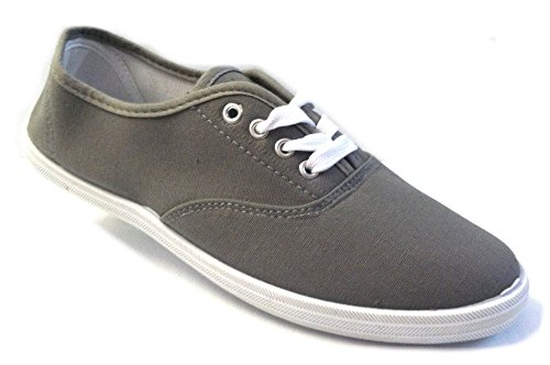 Shoes 18 Womens Canvas Shoes Lace up Sneakers 324 Grey 11