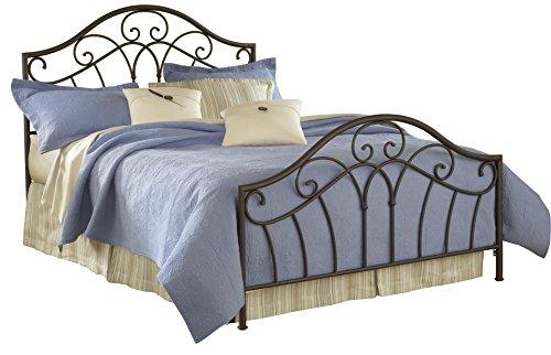 Hillsdale Furniture Josephine Bed Set with Rails, Queen, Metallic Brown