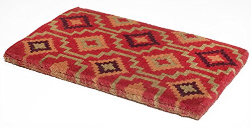 Handwoven, Extra Thick Doormat |  Entryway Door mat For Patio, Front Door | Decorative All-Season | Lhasa Kilim | 24