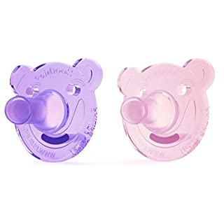 Philips Avent Soothie Shape, 0-3 months, pink/purple, 2 pack, SCF194/02