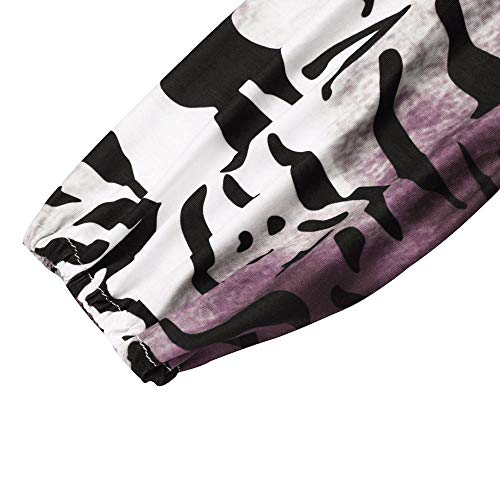 Femme Manches Tops Impression Chemise Grande sans Rayure Tunique 5XL Printemps Loose Shirt Automne T Casual Longues Taille S Chic Rose Bretelle Solike Blouse cEP6wYWqWO
