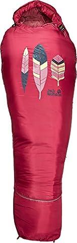 Jack Wolfskin children's Grow Up summer sleeping bag, azalea red