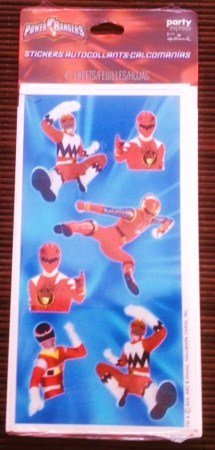Power Rangers Stickers (4 Sheets)