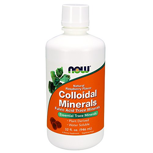 NOW Colloidal Minerals, Rasberry,32-Ounce