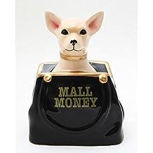6.50 Inch Ceramic Chihuahua In Purse Savings Piggy/Coin/Money Bank