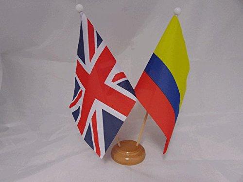 NWFlags Bandera para Mesa de Escritorio con Base de Madera y Barra ...