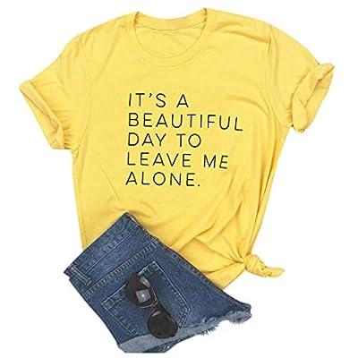 Meikosks Ladies Short Sleeve Pullover Fashion Letter Printed Tshirt Short Sleeve Tops: Clothing