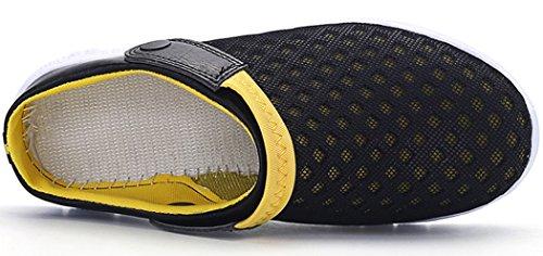negro da Scarpe in Traspiranti Unisex Sportive Sandali per Spiaggia per Mesh Scarpe Estivi Pantofole Esterni Antiscivolo Amarillo wWqavA4Xq