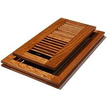 Decor Grates WLF410-M 4-Inch by 10-Inch Wood Flush Mount Floor Register, Medium Oak