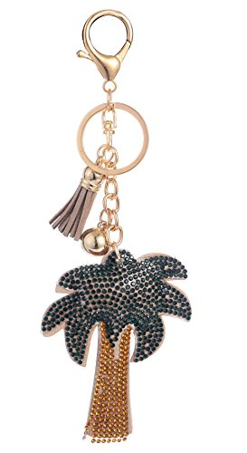 Giftale Leather Palm Tree Tassel Handbag Charms Keychain for Women Purse Accessories (Palm Tree Purse)