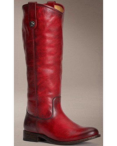 Frye Women's Melissa Button Burgundy Washed Antique Pull Up Boot 5.5 B (M)