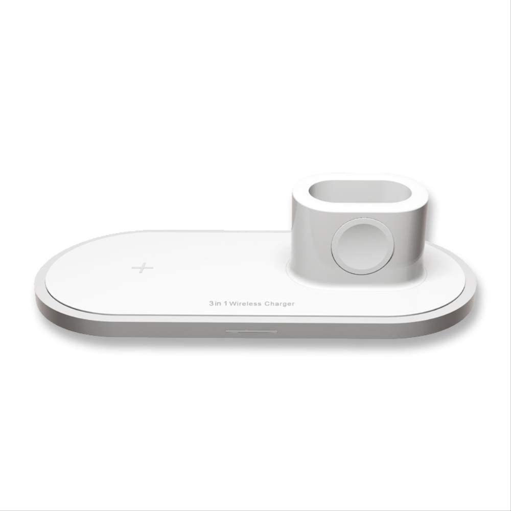 itEIf 3-in-1 Fast Wireless Charger Desktop Stand Charging Base Base Plate Station for Iwatch Airpods and Smartphone Universal iPhone 11 Xs