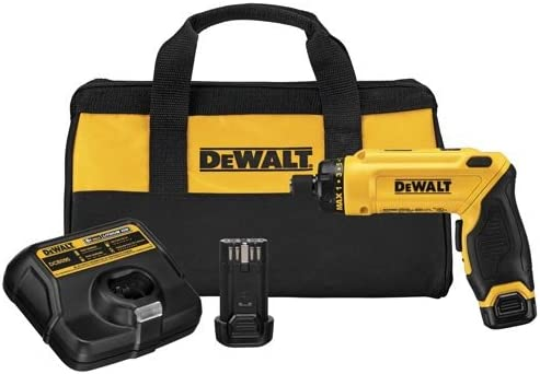 DEWALT 8V MAX Cordless Screwdriver Kit, Gyroscopic, 2 Batteries DCF680N2