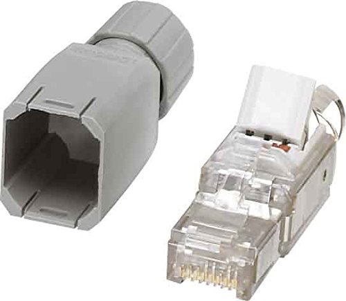Phoenix Contact 1656725, 8 Pin RJ45 Plug, Cable Mount Grey
