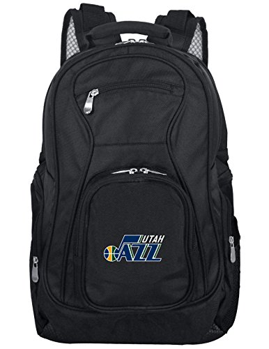 Denco NBA Utah Jazz Voyager Laptop Backpack, 19-inches, Black (Bag Utah Jazz)