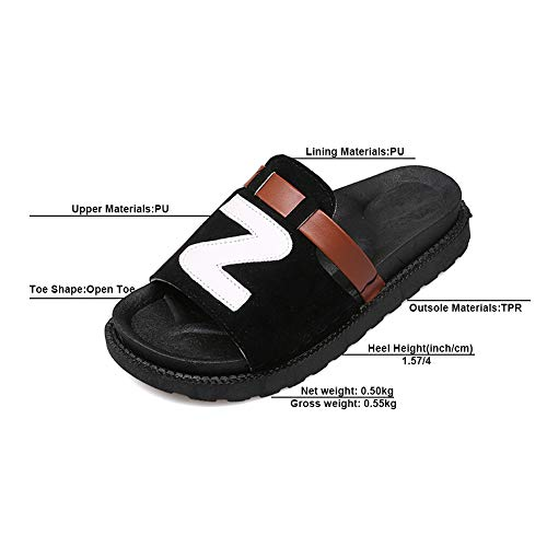Femme Premier Plage 08031 D'été Black Jardin Chaussons pour De Les Sports Sandales LJXY Tous PU Pantoufles Chaussures KJJDE E4WqBB
