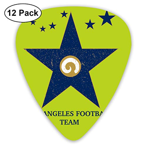 Los Angeles Football Team Walk of Fame Exquisite Shell Surface Guitar Pick-12 Pieces of Packaging General Purpose]()
