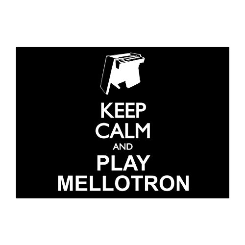 Mellotron Instruments - Idakoos - Keep Calm and Play Mellotron Silhouette - Instruments - Sticker Pack x4