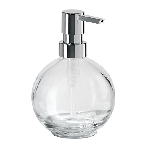 Oggi 12oz Ball Glass Lotion and Soap Dispenser for Kitchen or Bath-Clear
