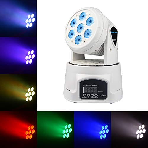 Mini Moving Head Disco Light, Special Stage Light with a NETWORK INTERFACE, RGBW Full Color LED Strobe Light Bar Sound Activated,Master-slave, Auto Running for Bars Disco hall Performance Places