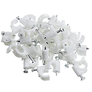 CableWholesale Rg6 Cable-Clip, White, 100 Pieces Per Bag (200-961) (B000I97FHY) | Amazon Products