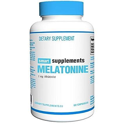 Smart Supplements Melatonine Suplemento de Hierbas - 60 Cápsulas