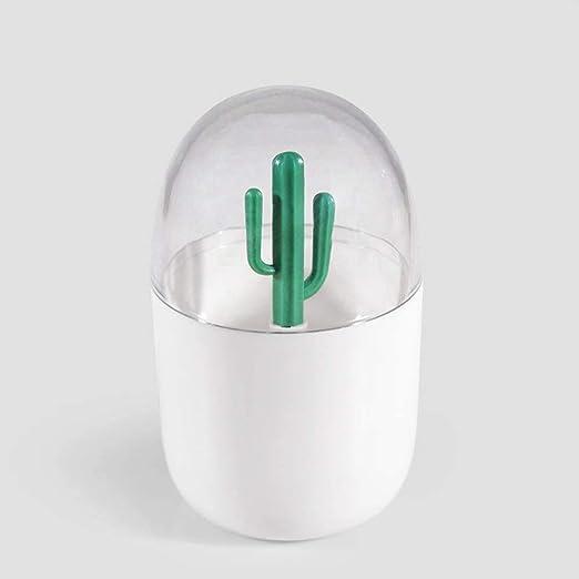 YUBRO Cotton Swabs Storage Box, Cute Cactus Decors Toothpicks Holder Fashion Simple Christmas Decoration