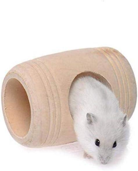 MaylFre Legno Criceto Casa Tonneau Hamster Nest Hamster Non Tossico Criceto Casa Pet Supplies Giocattolo