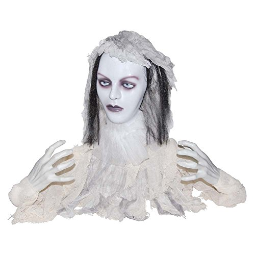 [Animated 2 Faced Groundbreaker Bride Skeleton Halloween Prop Decoration] (Two Faced Halloween Costumes)
