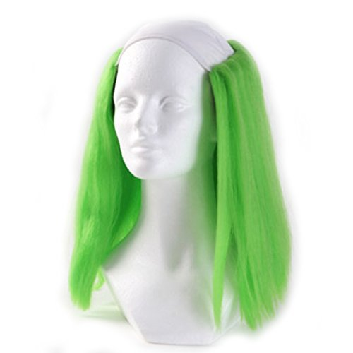 Clown Antics Green Bald Clown Straight Wig -