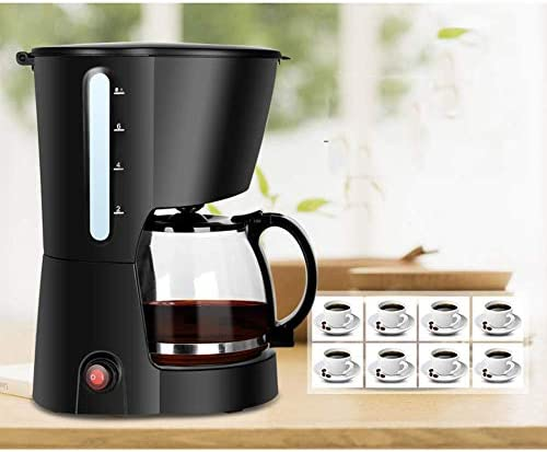 Qinmo Machine à café glacé, Machine à café Automatique Accueil Petit américain gl Type de Grande capacité Simple Facile à Nettoyer Un Seul Bouton Operation Black