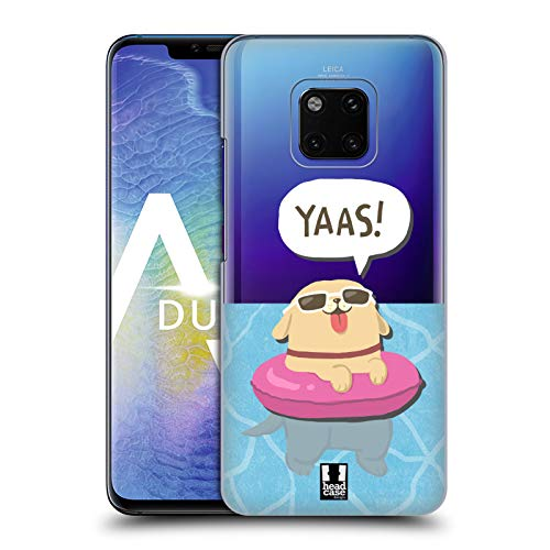 Head Case Designs Swim Lil Puppies Hard Back Case Compatible for Huawei  Mate 20 Pro
