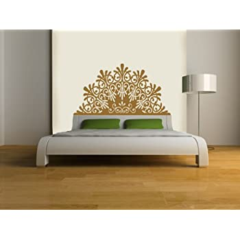 Headboard Decal,elegant, Vinyl Wall Sticker (Gold U2013 Metallic, DOUBLE/FULL:  55u201dW X 29u2033H)