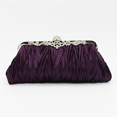 Las mujeres Satin Evento/fiesta / Bolsa de noche de boda beige/Rosa/Violeta / azul / Negro / Plata / oro,Fucsia Purple