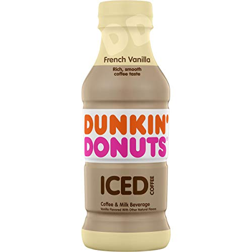 Dunkin' Donuts French Vanilla Iced Coffee Bottle, 13.7 fl oz