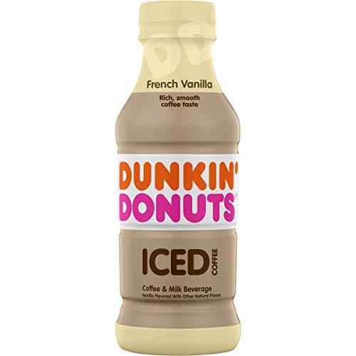Dunkin Donuts French Vanilla Iced Coffee Bottle, 13.7 fl oz